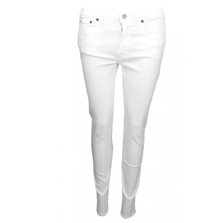 Ralph Lauren - Vaqueros - Blusa - para Mujer Blanco W26: Amazon.es ...