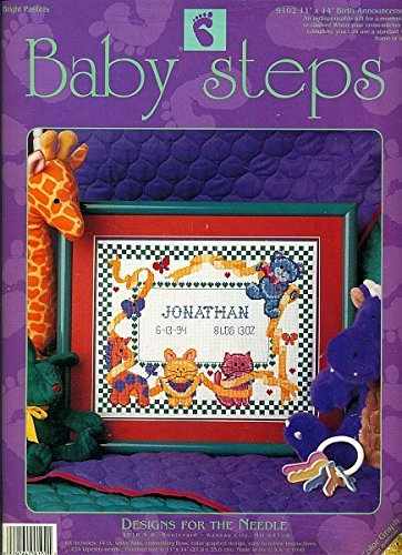 Baby Steps Birth Announcement Counted Cross Stitch Kit 9102