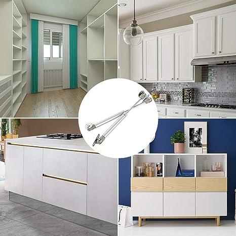 2 muelles de gas amortiguador 50 N para cocina y muebles, pistón de gas para puertas de muebles, Bisagra armario, brazo amortiguador para bisagras de muebles de cocina: Amazon.es: Bricolaje y herramientas