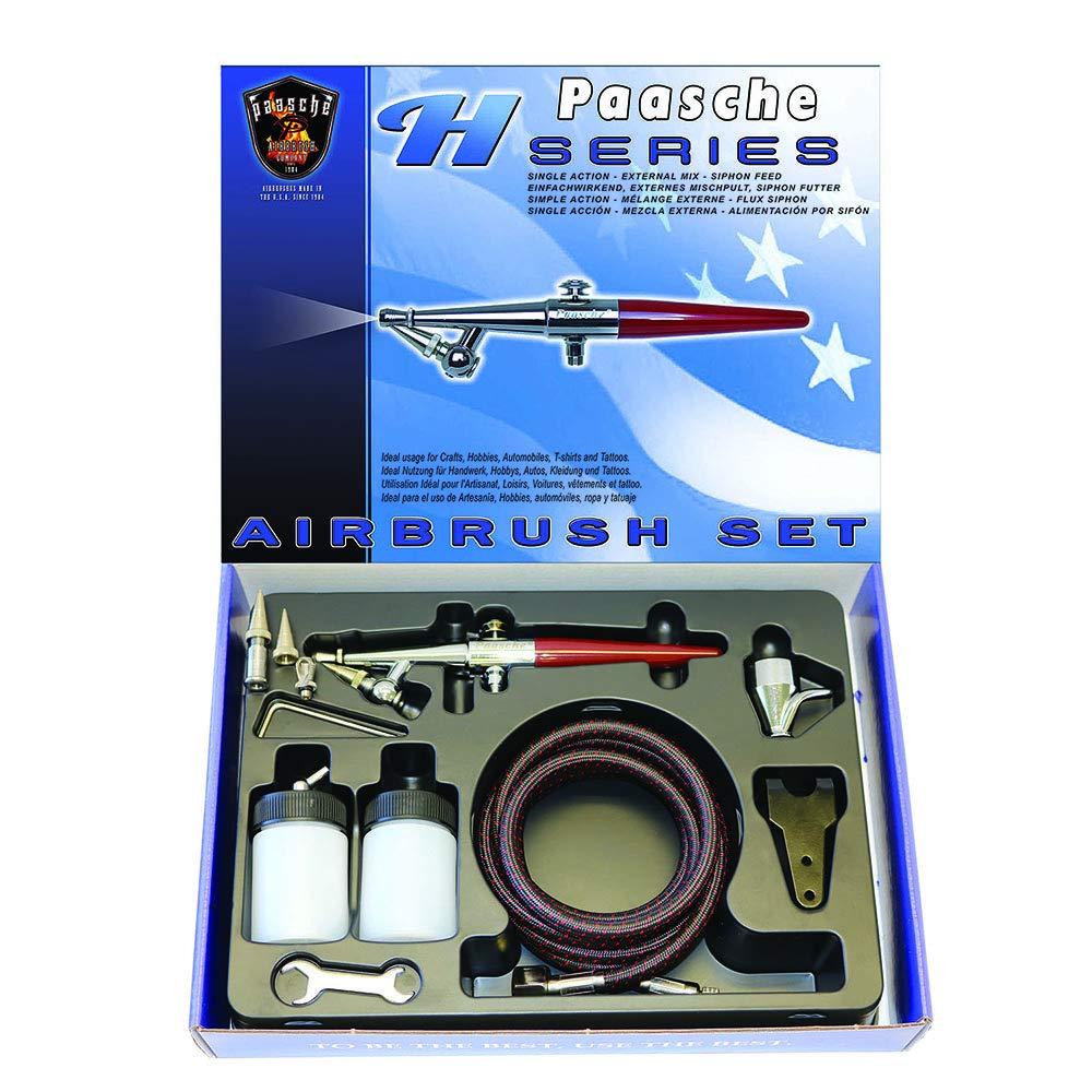 Paasche H-Set Juego de aerógrafo de acción simple para al...