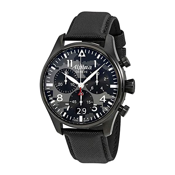 Alpina Geneve Startimer Pilot AL-372BMLY4FBS6 Cronógrafo para hombres Reloj Aeronóautico: Amazon.es: Relojes