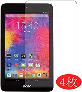 """【4 Pack】 Synvy Screen Protector for Acer iconia one 8"""" B1-820 one8 0.14mm TPU Flexible HD Clear Case-Friendly Film Protective Protectors [Not Tempered Glass] New Version"""