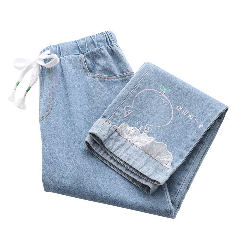 Frauen-Hosen-Nettes Gesichts-dünne Denim-Elastische Taille Damen-Hose