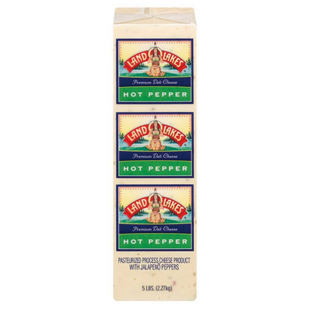 Land O Lakes Processed Premium Hot Pepper Cheese, 5 Pound - 2 per case. by Land O Lakes