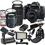 Canon EOS Rebel T6i 24.2 MP Digital SLR Camera with Canon EF-S 18-55mm f/3.5-5.6 IS STM Lens + Canon EF 75-300mm f/4-5.6 III Lens + 2pc SanDisk 32GB Memory Cards + Battery Grip Review