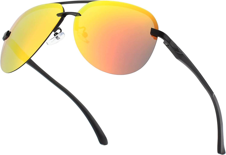 CGID GA61 Premium Al-Mg Pilot Polarized Sunglasses UV400 Mirror for Men Women