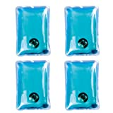 Pack of 4 Instant Heating GEL HAND WARMERS - Reusable Heat Pack Pad Handwarmers Warmer (Blue)