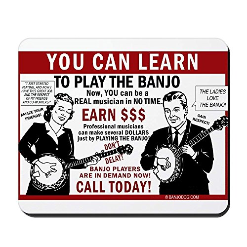 Learn Pads (You Can Learn to Play The Banjo - Non-Slip Rubber Mousepad, Gaming Mouse Pad 1822cm)