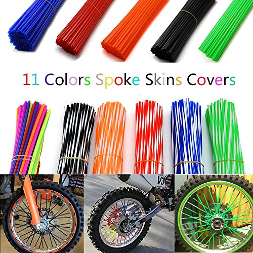 Spoke Skin, 8''-21'' rims Dirt Bike Spoke Skin Coats Covers Wraps-72 Pcs for Yamaha YZ/WR / TTR, Honda CR/CRF, Suzuki DS TC RM RS by VicsaWin (Image #5)