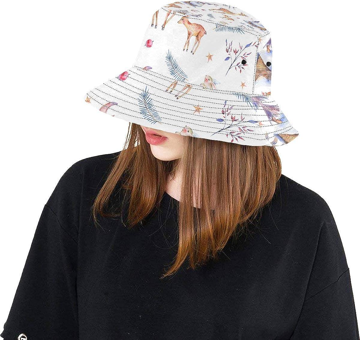 Top Hats Summer Spring Bucket Hat Deer Silhouette Art Design Fashion Fisherman Cap Travel Rain Picnic Hat for Women Girls