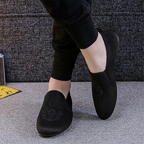 zapatos Comodidad de guisantes de hombres casuales bordado moda C nuevos planos los 2018 Zapatos los del verano GLSHI mocasines de la primavera y pqYzg