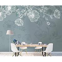 Witte bloemen en planten Vintage vliesbehang 3D behang wanddecoratie muurschilderingen woonkamer 3d woonkamer de muur…