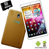 Indigi GOLD Android 4.2 Tablet PC 7in Dual Core HDMI Leather Back WiFi + 32GB micro SD