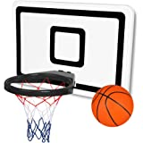 XL Mini Basketball Hoop STICK ON w/ Four Suction Cups for Indoor or Outdoor Use Including Tailgating, Boating, Camping, Office, Home