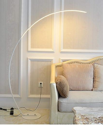 Lámpara De Pie LED Nórdica, Luz De Piso Vertical Con Curva Regulable Lámpara De Piano Simple Y Moderna Lámpara De Pie De Moda Creativa Dormitorio ...