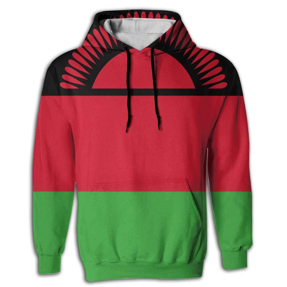 CHAN03 Unisex Realistic 3D Print Hoodie Hooded Sweatshirts Flag of Malawi