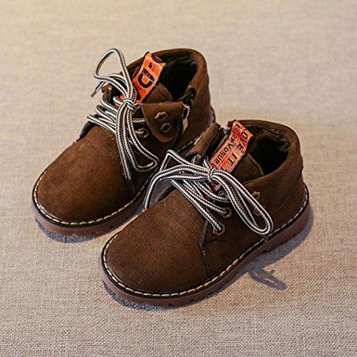 Kinder Herbst und Winter Retro Martin Stiefel, Upxiang Baby Jungen Mädchen Martin Sneaker Stiefel, Schuh Revers Design mit Buchstaben Band Grün