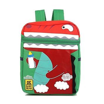 3adb709a0f9ac0 FRISTONE Unisex Baby Boys Girls Kids Dinosaur Pattern Animals Backpack Baby  Backpack for kids Under 4 Years (Green)  Amazon.co.uk  Luggage