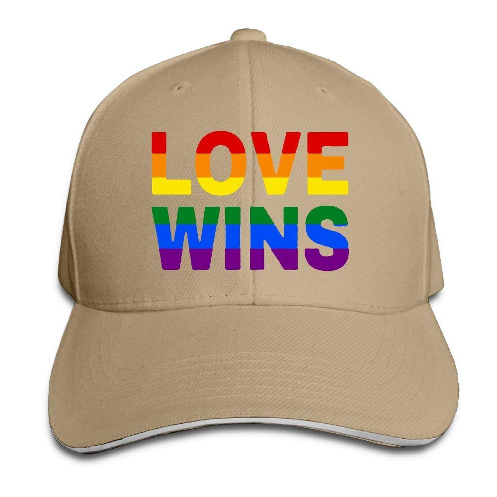 Love Not Hate Arriage Equality Gay Pride Love Wins Outdoor Snapback Sandwich Cap Adjustable Baseball Hat Street Rapper Hat