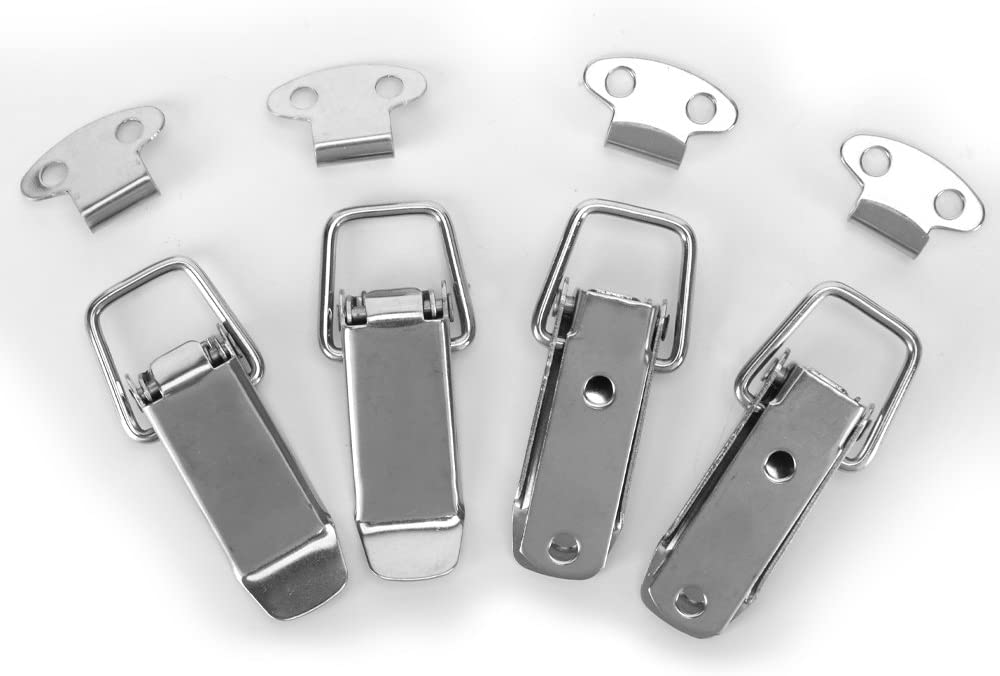 73mmm Overall Length and Chest with 4 Pack Accessbuy Stainless Steel Spring Loaded Toggle Latch Catch Clamp Clip for Trunk Box Case