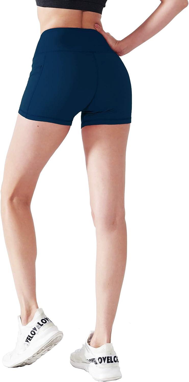 "Cadmus Women's 3""/4"" High Waist Spandex Running Shorts for Yoga: Clothing"