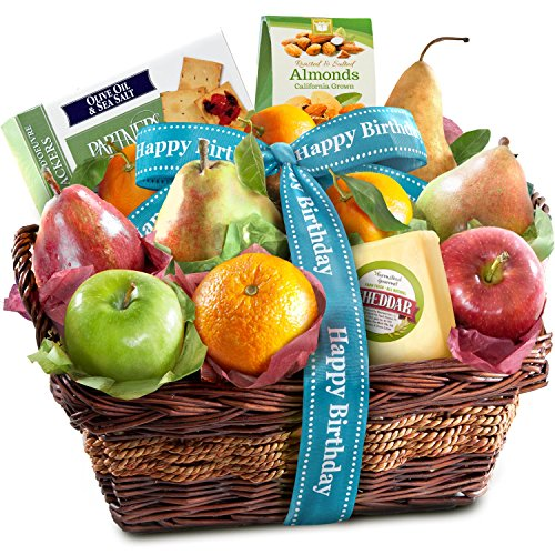 Fruit Birthday Basket (Golden State Fruit Birthday Fruit Basket with Cheese and Nuts)