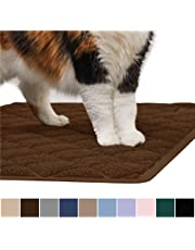 GORILLA GRIP Original Premium Durable Cat Litter Mat, XL Jumbo, No Phthalate, Water Resistant, Traps Litter from Box and Cats, Scatter Control, Soft on Kitty Paws, Easy Clean Mats, Corner, Brown