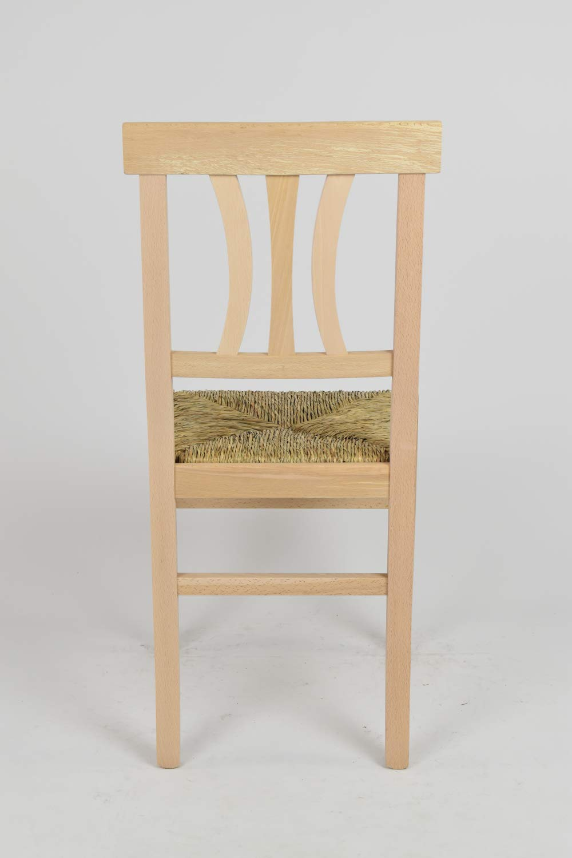 Bar y Restaurante 100/% Natural y Asiento en Madera de Estilo Clasico no tratada con Estructura en Madera de Haya lijada Tommychairs sillas de Design Set 2 sillas Artemisia de Cocina Comedor