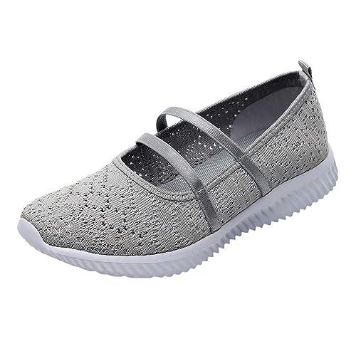 Amazon.com: Hook&Loop Walking Shoes Breathable Mesh EVA ...