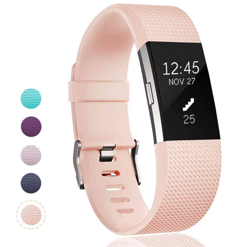 Geak Fitbit Charge 2バンド、Special Edition交換用バンドfor Fitbit charge2 Large Small 12異なる色 B01N5KYK5L Small|#01 Blushpink #01 Blushpink Small