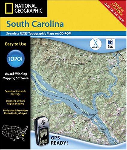 National Geographic TOPO! Map of South Carolina (Mac)