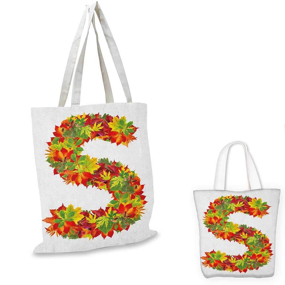 16x18-13 Letter T canvas messenger bag Capital Letter from Flowers Grass Image Alphabet Font Design Spring Vibes Print canvas beach bag Multicolor