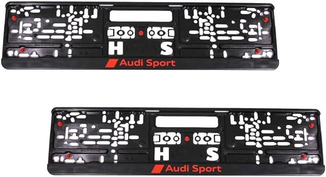 Audi Sport Number Plate Holder Set Of 2 Black Auto