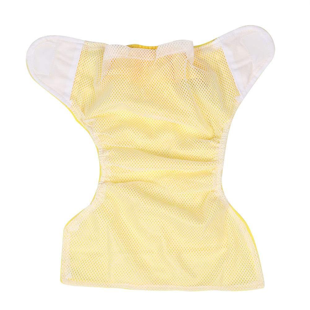 Weiche atmungsaktive wasserdichte justierbare Baby-Hosen-Stoffwindel f/ür 0-2 Jahre alt Rosa