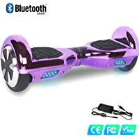 Watson Gyropode Auto Equilibrage Balance Boards Smart Scooters Electrique LED Self Blance 6,5 Pouces, HHHhoverboarrrd Self-Balancing, Bluetooth&LED, Modele ES01