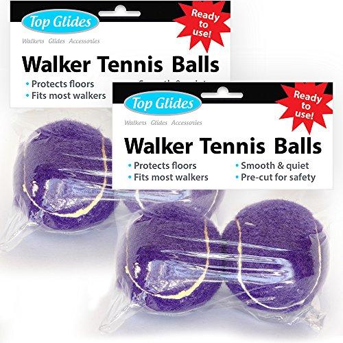 Top Glides Precut Walker Tennis Ball Glides - Purple - 2 Pairs