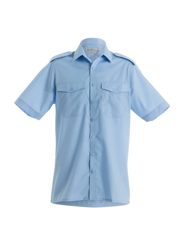 KUSTOM KIT Pilot Shirt Short Sleeved - 3 Colours / 14.5-19.5 Collar