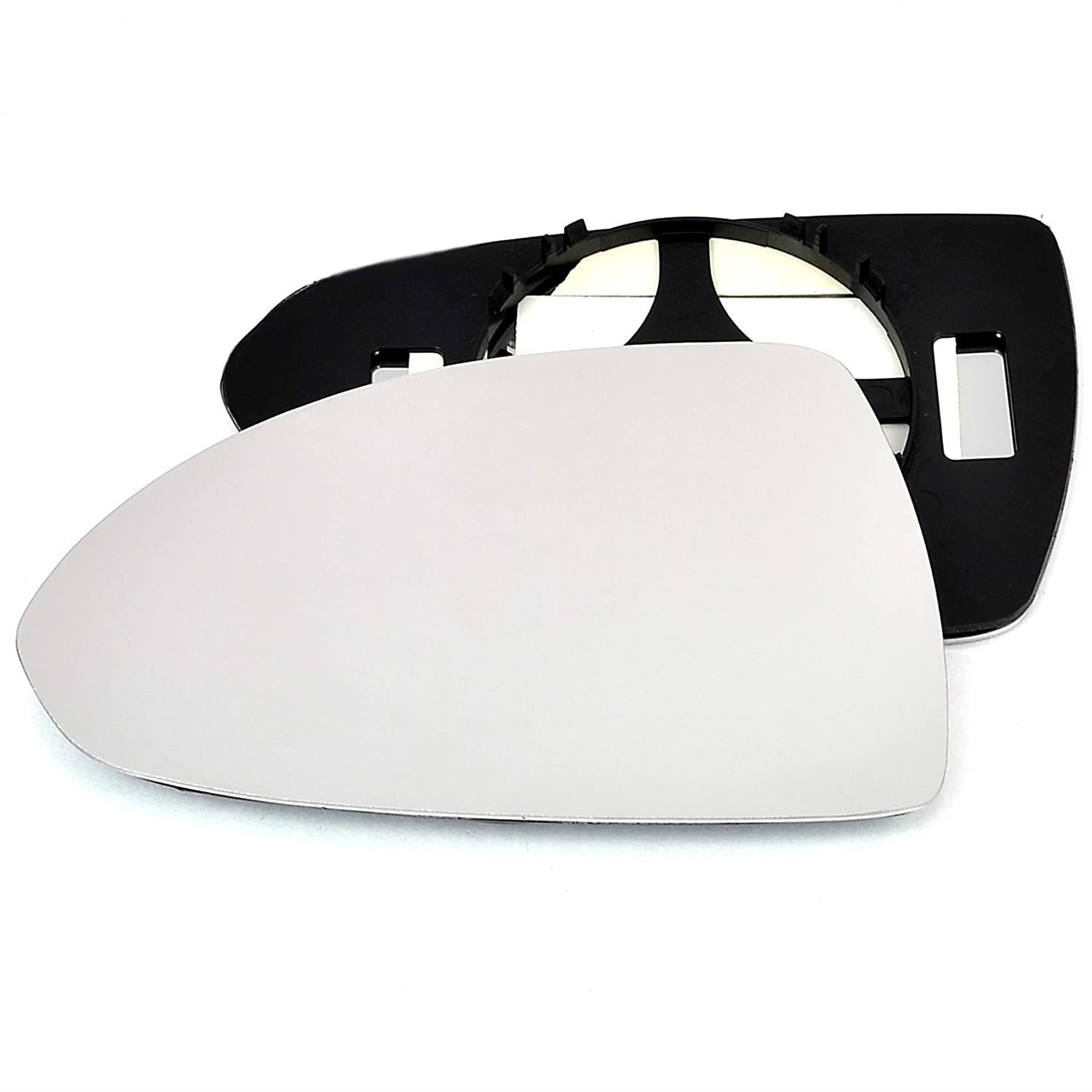 Passenger left hand side wing door Silver mirror glass with backing plate #C-SN/L-OLCAE14 [Clip On] Sylgab
