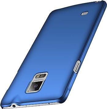 anccer Funda Samsung Galaxy Note 4, Ultra Slim Anti-Rasguño y Resistente Huellas Dactilares Totalmente Protectora Caso de Duro Cover Case para Samsung Note 4 (Azul Liso): Amazon.es: Electrónica