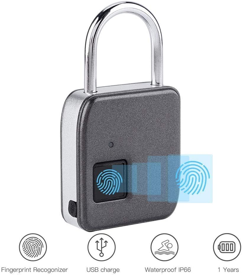 Believe in yourself Black Technology Multifunctional Fingerprint Hanging 6 Travel Portable Fingerprint Anti-Theft Type-c Interface Rechargeable Fingerprint Password