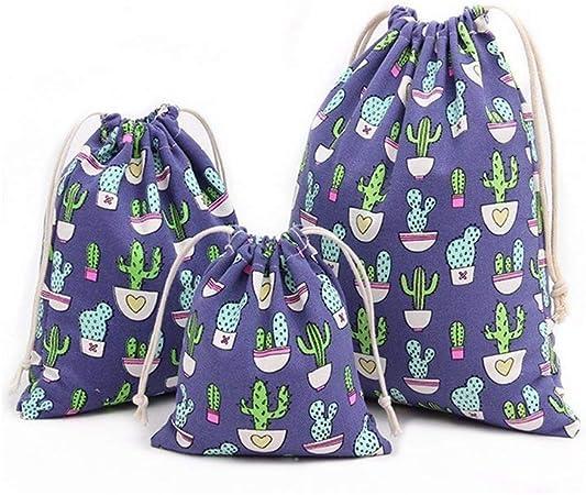 Oferta amazon: Abaría - 3 Unidades Bolsa de algodón con Cuerdas – Pequeña Saco Bolsas - Bolsa Inserto Organizador para bebé Ropa Juguete pañales - Bolsa de Regalo - 25x 30 cm, 19 x 23 cm, 14 X 16