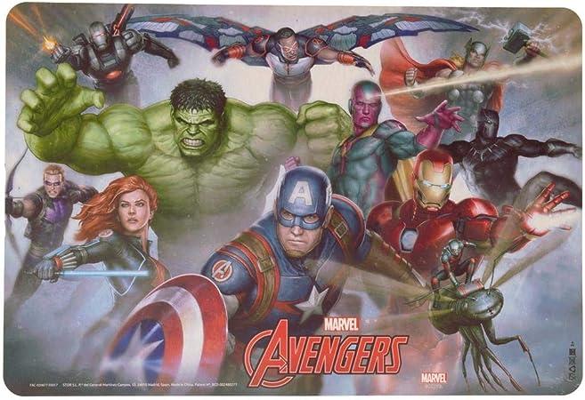trendaffe Marvel Avengers Espacio Juego – Marvel Superhéroes Juego de Mesa manteles Individuales Avengers Personajes Mesa Matte: Amazon.es: Juguetes y juegos