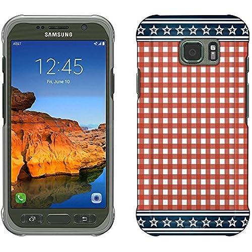 Samsung Galaxy S7 Active Case, Snap On Cover by Trek Patriotic Picnic Blanket Slim Case Sales