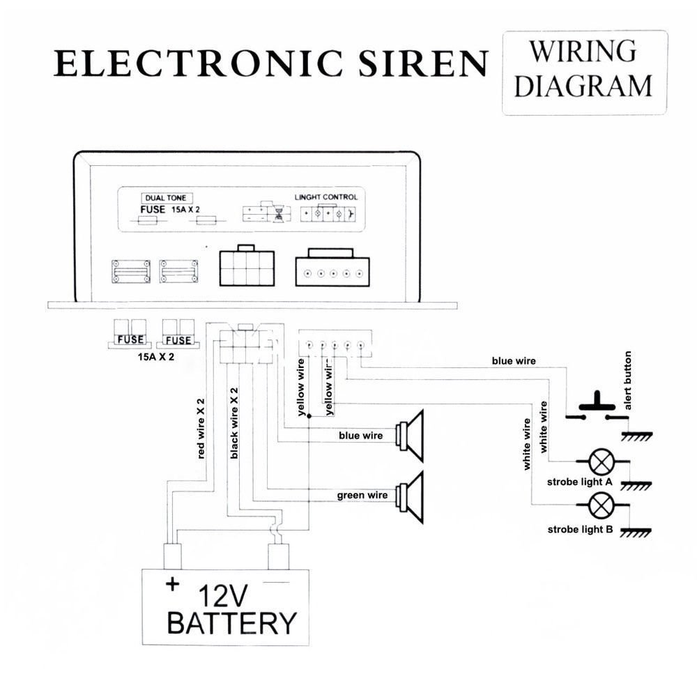 Speaker Strobe Wiring Diagram 29 Images Microphone Circuit Diagrams Schematics Electronic 44 Amazon Com 200w 8 Sound Car Warning Alarm Police Fire Siren Horn 61r4xity Bl Sl1000