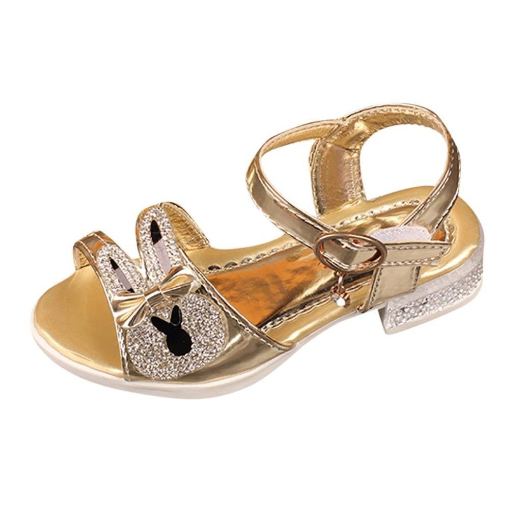 Zapatos Niña, Sandalias de bebé Bowknot de cristal para niños con forma de conejo Niños Princesa Zapatos casuales LMMVP