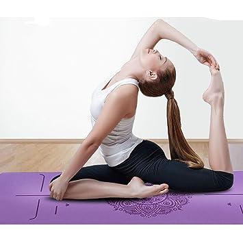 MAOMEI Estera de Caucho Natural para Yoga, Hombres y Mujeres ...