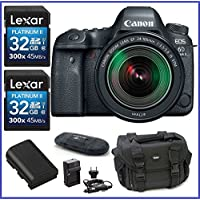 Canon EOS 6D Mark II DSLR Camera with EF 24-105mm f/3.5-5.6 IS STM Lens (USA Warranty) PRO Bundle - Includes 32GB SDHC Class 10 Memory Cards (2 Pieces) + Spare Battery + AC/DC Travel Charger + more
