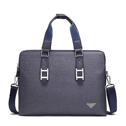 Multifuncional Bolsa Mensajero Hombre PU maletín de cuero bolsa de mensajero bolsa de ordenador portátil a