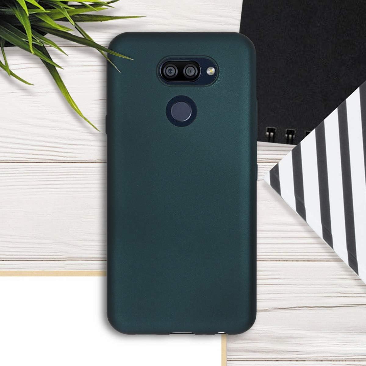 kwmobile Funda Compatible con LG K40S Carcasa de TPU Silicona Protector Trasero en Negro Mate