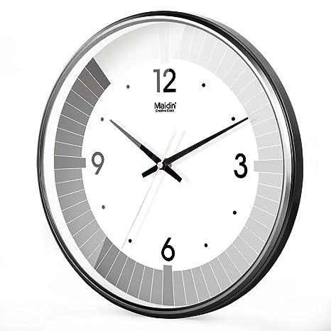 Reloj de Pared Nuevas y Modernas para Cualquier habitación con precisión Salón Oficina muda en Blanco ...